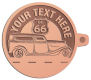 Ace Recognition Copper KeyTag - with your text and logo - Car Designs - US route 66 - classic car- roadster - vintage cars - your text, route 66, route sixty six, route sixty-six, historic highway, historic road, mother road, transportation