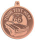 Ace Recognition Copper KeyTag, Medal, Pendant - with your text and logo - Car Designs - US route 66 - classic car- roadster - sports car - vintage cars - your text, route 66, route sixty six, route sixty-six, historic highway, historic road, mother road