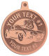 Ace Recognition Copper KeyTag, Medal, Pendant - with your text and logo - Car Designs - US route 66 - classic car - roadster - vintage cars - sports car - your text, transportation, metal