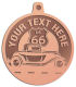 Ace Recognition Copper KeyTag, Medal, Pendant - with your text and logo - Car Designs - US route 66 - classic car - roadster - vintage cars - coupe - your text, transportation, metal