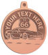 Ace Recognition Copper KeyTag, Medal, Pendant - with your text and logo - Car Designs - US route 66 - classic car - roadster - vintage cars - corvette - your text, transportation, metal