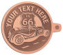 Ace Recognition Copper KeyTag - with your text and logo - Car Designs - US route 66 - convertible - vintage cars - sports car - your text, transportation, metal