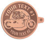 Ace Recognition Copper KeyTag - with your text and logo - Motorcycle Designs - US 66 - route 66 -   chopper, motorcycle - your text, motorcycles, motor bikes, racing, motor, motorsports, motor-sports, transportation, metal