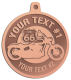 Ace Recognition Copper KeyTag, Medal, Pendant - with your text and logo - Motorcycle Designs - US 66 - route 66 -   chopper, motorcycle - your text, motorcycles, motor bikes, racing, motor, motorsports, motor-sports, transportation, metal