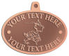 Ace Recognition Copper KeyTag, Medal, Pendant - with your text and logo - Sports, mascots, sports, birds, teams, high school, college, university