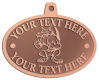 Ace Recognition Copper KeyTag, Medal, Pendant - with your text and logo - Sports, mascots, sports, animals, foxes, teams, high school, college, university