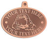 Ace Recognition Copper KeyTag, Medal, Pendant - with your text and logo - Sports, mascots, sports, animals, bull dogs, canines, teams, high school, college, university