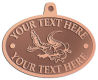 Ace Recognition Copper KeyTag, Medal, Pendant - with your text and logo - Sports, mascots, sports, reptiles, crocodiles, alligators, teams, high school, college, university