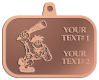 Ace Recognition Copper KeyTag, Medal, Pendant - with your text and logo - Cavemen, caveman, prehistoric, primal