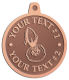 Ace Recognition Copper KeyTag, Medal, Pendant - with your text and logo - Aliens, rocket ships, rockets