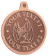 Ace Recognition Copper KeyTag, Medal, Pendant - with your text and logo - Sports, mascots, bats, high school, college, university