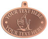 Ace Recognition Copper KeyTag, Medal, Pendant - with your text and logo - Sports, mascots, fish, sharks, high school, college, university