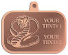 Ace Recognition Copper KeyTag, Medal, Pendant - with your text and logo - Tribal, tattoos, snakes, cobras