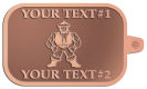 Ace Recognition Copper KeyTag - with your text and logo - Sports, mascots, martial arts, warriors, high school, college, university