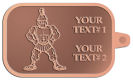 Ace Recognition Copper KeyTag - with your text and logo - Sports, mascots, soldiers, roman soldiers, high school, college, university