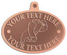 Ace Recognition Copper KeyTag, Medal, Pendant - with your text and logo - Sports, mascots, gorillas,primates, high school, college, university