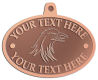 Ace Recognition Copper KeyTag, Medal, Pendant - with your text and logo - Sports, mascots, birds, eagles, hawks, ospreys, birds of prey, predators