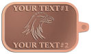 Ace Recognition Copper KeyTag - with your text and logo - Tribal, tattoos, birds, eagles, hawks, ospreys, birds of prey, predators