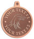 Ace Recognition Copper KeyTag, Medal, Pendant - with your text and logo - Tribal, tattoos, birds, eagles, hawks, ospreys, birds of prey, predators