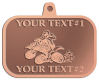 Ace Recognition Copper KeyTag, Medal, Pendant - with your text and logo - all terrain vehicles, atv, atvs, off road, off-road, 4-wheeler, atv, bike,drive, fast, four, machine, motocross, off-road, power, powerful, quad, race, red, ride, road, sky, sport, tires, tool, traction, trail, transport, transportation, wheel