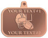 Ace Recognition Copper KeyTag, Medal, Pendant - with your text and logo - ping pong, paddles, table tennis,  exercise, fitness, fun, games, racket, racquet, raquet, recreation, serve, set, sport, sporting