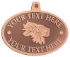Ace Recognition Copper KeyTag, Medal, Pendant - with your text and logo - lions, lion heads, emblems, symbols, themes, animals, zoo, jungle