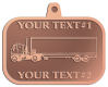Ace Recognition Copper KeyTag, Medal, Pendant - with your text and logo - trucks, haulers, haul, delivery, cargo, carriers, transportation, transport trucks, transport, container trucks