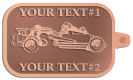 Ace Recognition Copper KeyTag - with your text and logo - road grader, mining equipment, grader, heavy equipment, earthmovers, earth movers