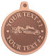 Ace Recognition Copper KeyTag, Medal, Pendant - with your text and logo - road grader, mining equipment, grader, heavy equipment, earthmovers, earth movers