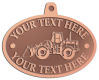 Ace Recognition Copper KeyTag, Medal, Pendant - with your text and logo - bobcats, construction, industrial, machine, machinery