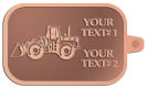Ace Recognition Copper KeyTag - with your text and logo - bobcats, construction, industrial, machine, machinery