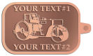 Ace Recognition Copper KeyTag - with your text and logo - asphalt paving machine, paver, roller, machinery, equipment, heavy, steam rollers, steamrollers, drum compactors