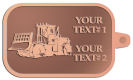 Ace Recognition Copper KeyTag - with your text and logo - bulldozers, machinery, equipment, heavy