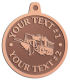 Ace Recognition Copper KeyTag, Medal, Pendant - with your text and logo - snow plows, plows, snow removal, road equipment, heavy equipment