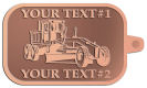 Ace Recognition Copper KeyTag - with your text and logo - graders, machinery, road equipment, heavy equipment, highway maintenance
