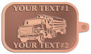 Ace Recognition Copper KeyTag - with your text and logo - logging equipment, logging truck, trucking, cargo, industry, logging, truck, lumber