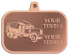 Ace Recognition Copper KeyTag, Medal, Pendant - with your text and logo - cement truck, concrete, construction, heavy equipment, road construction, home renovation