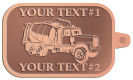 Ace Recognition Copper KeyTag - with your text and logo - cement truck, concrete, construction, heavy equipment, road construction, home renovation