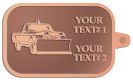 Ace Recognition Copper KeyTag - with your text and logo - snow removal, truck, plow, pick up, pick-up, snow plow