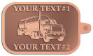 Ace Recognition Copper KeyTag - with your text and logo - tanker trucks, tank trucks, truck tankers, truck tanks, carriers, haulers, transportation