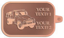 Ace Recognition Copper KeyTag - with your text and logo - dump truck, road construction, machinery, heavy equipment, transportation