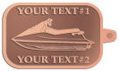 Ace Recognition Copper KeyTag - with your text and logo - boats, watercraft, water craft, speed boats, pleasure boats, pleasure craft