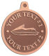 Ace Recognition Copper KeyTag, Medal, Pendant - with your text and logo - boats, watercraft, water craft, motor yachts, pleasure boats, pleasure craft