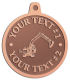 Ace Recognition Copper KeyTag, Medal, Pendant - with your text and logo - .diggers, excavators, excavation, excavation equipment, excavation machines, excavation machinery, digger tractors, crawler excavators