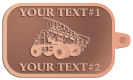 Ace Recognition Copper KeyTag - with your text and logo - dump trucks, standard dump trucks, trucks, construction vehicles, dumper, tip trucks, tipper lorry, tipper trucks, tippers, tipper lorries, transportation