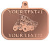 Ace Recognition Copper KeyTag, Medal, Pendant - with your text and logo - dump trucks, standard dump trucks, trucks, construction vehicles, dumper, tip trucks, tipper lorry, tipper trucks, tippers, tipper lorries, transportation
