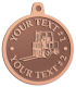 Ace Recognition Copper KeyTag, Medal, Pendant - with your text and logo - forklifts, fork lifts, reach trucks, lift trucks, hoist trucks, industrial vehicles