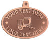 Ace Recognition Copper KeyTag, Medal, Pendant - with your text and logo - cement mixers, concrete mixers, masonry mixers, concrete, mortar