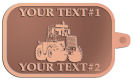 Ace Recognition Copper KeyTag - with your text and logo - cab enclosures, machines, industrial equipment, construction machinery, cabs