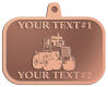 Ace Recognition Copper KeyTag, Medal, Pendant - with your text and logo - cab enclosures, machines, industrial equipment, construction machinery, cabs